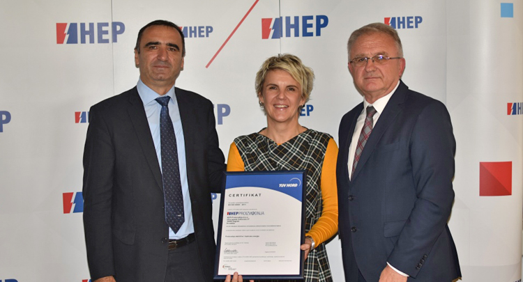 HEP-Proizvodnja introduces ISO 50001:2011 Energy Management System