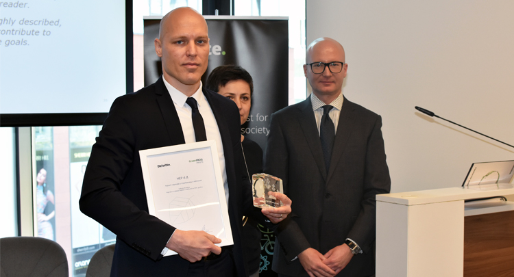 HEP received the Green Frog Award for sustainability reporting